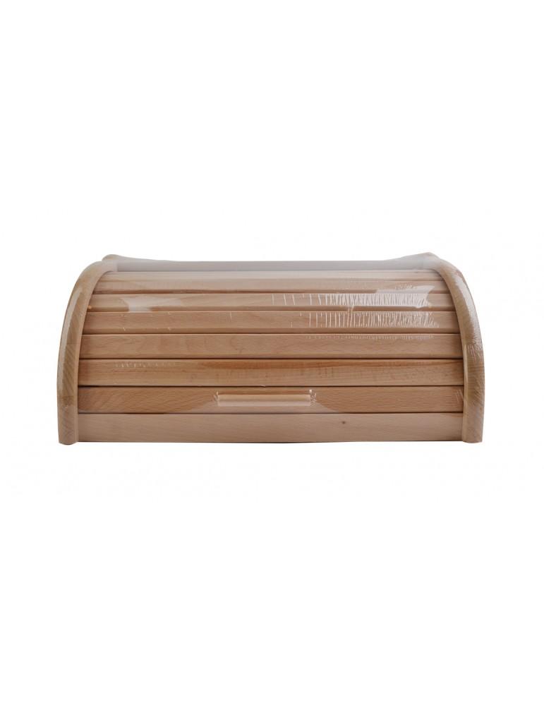 Chlebak drewniany bukowy duży