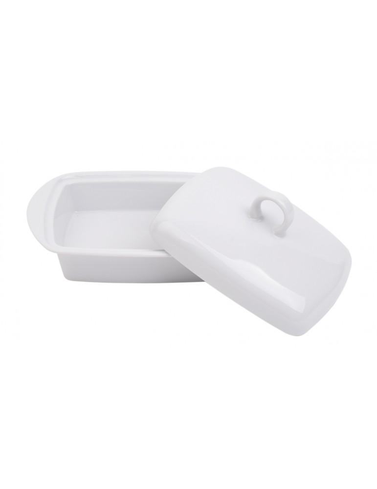Biała maselnica z porcelany...