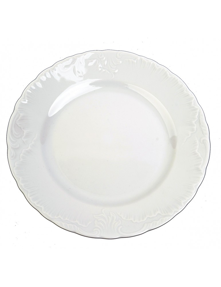 Biały talerz płytki...